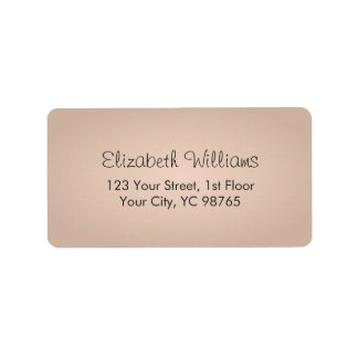 Simple Elegant Texture Rose Label