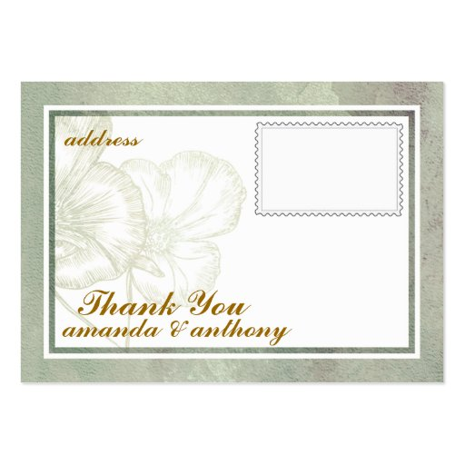 Simple Elegant Thank You Card Business Cards Pack