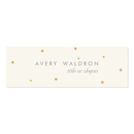 Simple Elegant Tiny Gold Stars Cream White Business Card