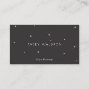 Tiny business cards zazzle simple elegant tiny gold stars event planner black business card colourmoves
