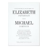 Simple Elegant Type Wedding Invitation Template