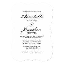 Simple Elegant Typography Wedding Invitation