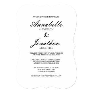 Black and White Wedding Invitations 17100 Black and White
