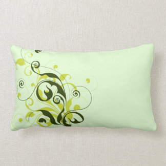 Simple Elegant Vine Swirl Flourish Long Pillow
