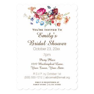 Simple Elegant Vintage Floral Bridal Shower Card