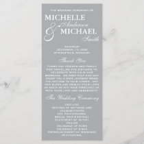 Simple Elegant Wedding Program