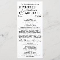 Simple Elegant Wedding Program