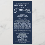 """Simple Elegant Wedding Program<br><div class=""""desc"""">This simple,  beautiful and elegant Wedding Program will coordinate with any wedding theme.  This program is available in white and blue and many more colors.  Please visit our shop for matching stationery and more color options!</div>"""
