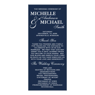 Wedding Program Rack Cards | Zazzle