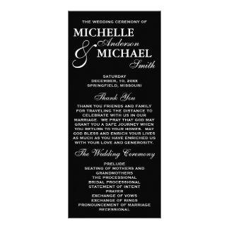 Simple Elegant Wedding Program Rack Card Design