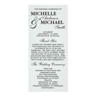 Simple Elegant Wedding Program Rack Cards