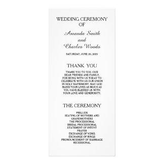 Simple Elegant Wedding Programs Personalized Rack Card