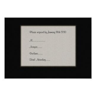Simple, Elegant Wedding RSVP Card Personalized Invites