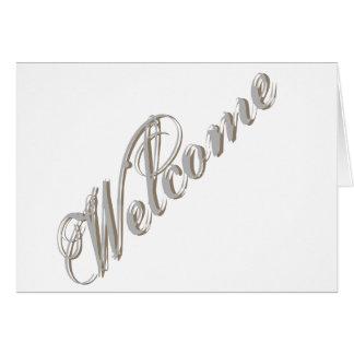 Simple Elegant Welcome Card