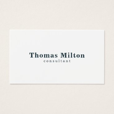 Lawyer Themed Simple Elegant White Blue Consultant Business Card