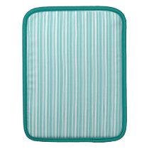 Simple elegant white blue iPad sleeve