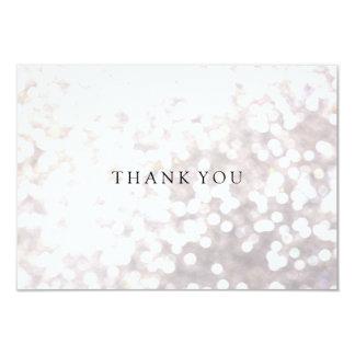 Simple Elegant White Bokeh Thank You Card