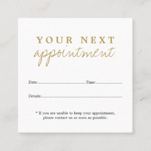 appointment cards zazzle