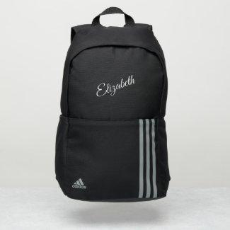Simple Elegant White Script Name Adidas Backpack