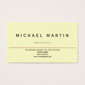 Simple Elegant Yellow Business Card