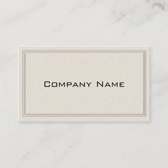 Simple embossed floral border business card zazzle simple embossed floral border business card reheart Image collections
