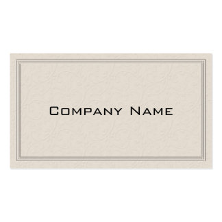 Simple Embossed Floral Border Business Card Business Card Templates