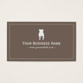Simple English Bulldog Dog Business Card