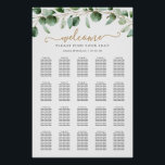 """Simple Eucalyptus Greenery Wedding Seating Chart<br><div class=""""desc"""">Designed to coordinate with our Moody Greenery wedding collection,  this customizable seating chart template features watercolor eucalyptus branches & has been paired with a whimsical calligraphy and a classy serif font in gold and gray. To make advanced changes,  please select """"Click to customize further"""" option under Personalize this template.</div>"""