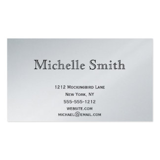 Simple Executive Silver Platinum Plain Business Business Card