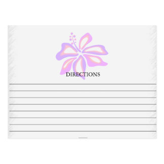 Simple Exotic Pink and Purple Recipe Cards