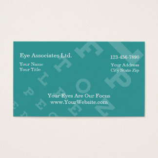 Simple Eye Doctor Business Cards