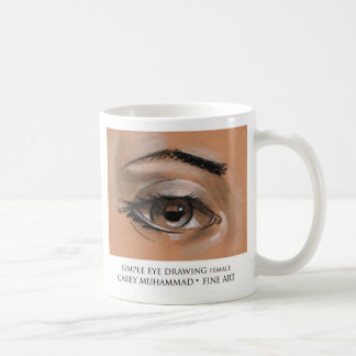 Simple eye drawing female coffee mug