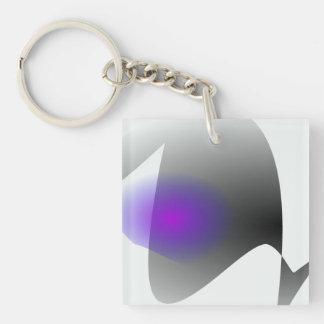 Simple Eye Single-Sided Square Acrylic Keychain
