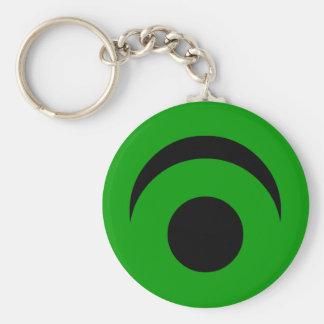 Simple Eye Basic Round Button Keychain