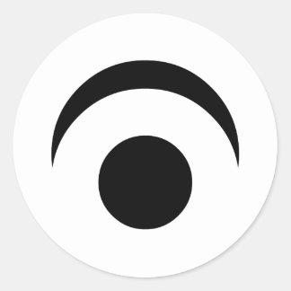Simple Eye Classic Round Sticker