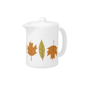 Simple Fall Leaves Designer Tea Pot