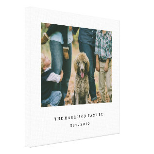 Simple Family Canvas Print at Zazzle