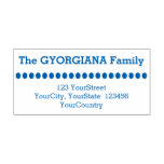 [ Thumbnail: Simple Family Name Plus Address Rubber Stamp ]