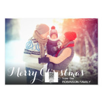 Simple Family Photo Christmas Card Template