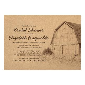 Simple Farm Bridal Shower Invitations Personalized Announcements