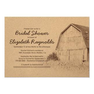 Simple Farm Bridal Shower Invitations