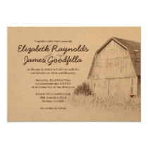 Simple Farm Wedding Invitations