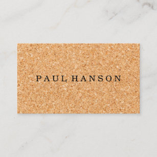 Cork board business cards templates zazzle simple faux cork print business card reheart Images
