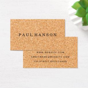 Cork business cards templates zazzle simple faux cork print business card reheart Choice Image
