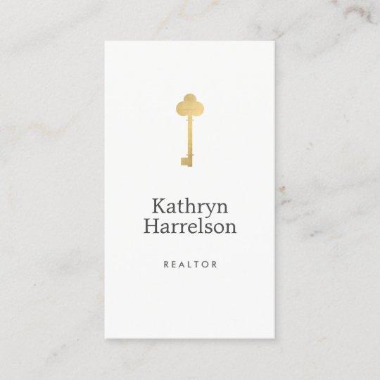 Simple faux gold key realtor logo business card zazzle simple faux gold key realtor logo business card colourmoves