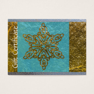 Simple Faux Gold Snowflake Beauty Gift Certificate