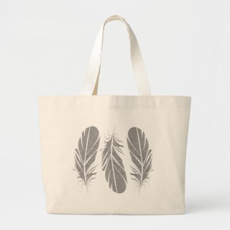 Simple Feathers Tote