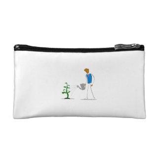 simple figure watering money tree png cosmetic bags