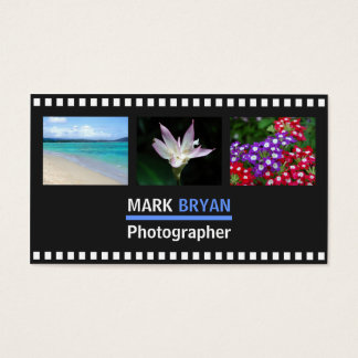 Simple Film Strip Background for Photographer Business Card