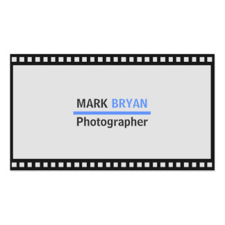 Simple Film Strip Background for Photographer Double-Sided Standard Business Cards (Pack Of 100)